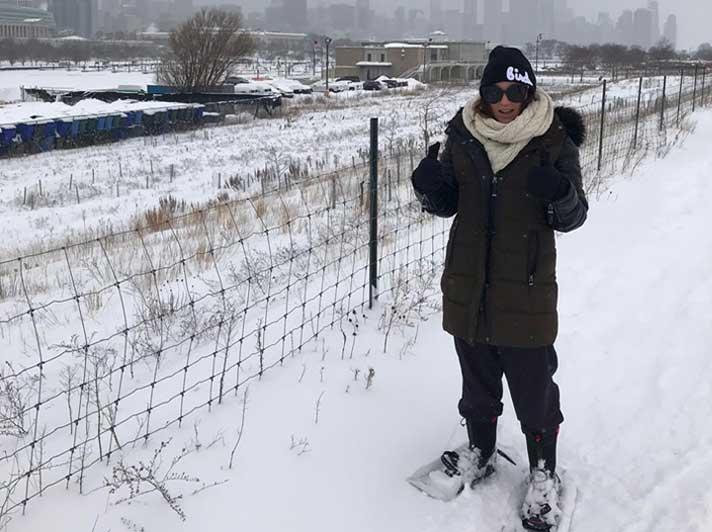 Kara Davis Snowshoeing