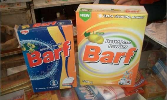 marketing translation blunders (barf detergent powder)