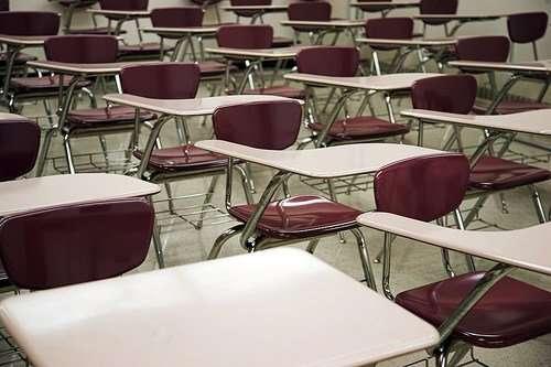 empty school chairs