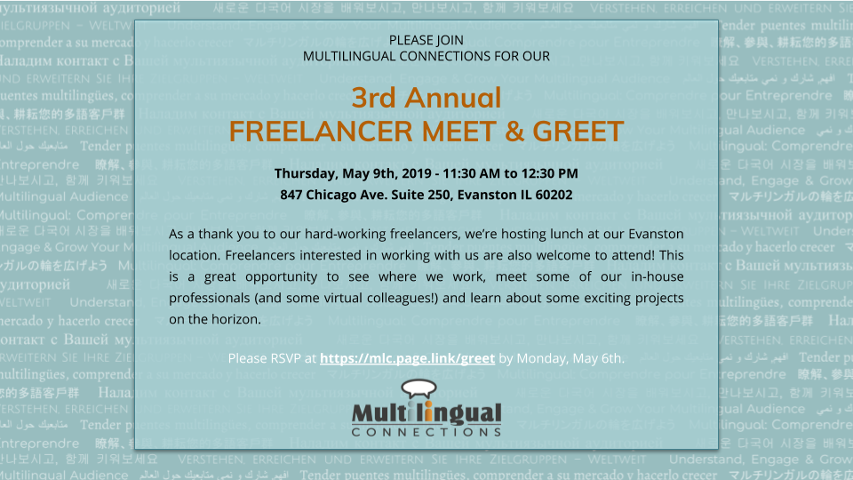 2019 Translation Freelancer Meet and Greet