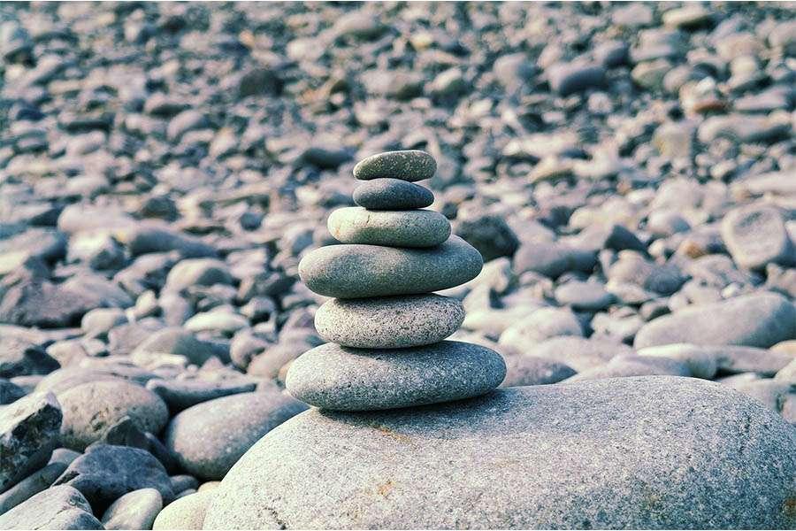 balancing stack of stones
