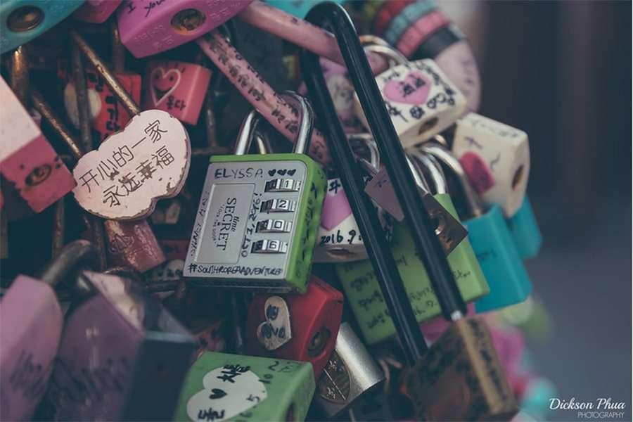 Locks of love in Korea