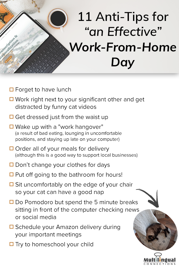 anti tips for working from home