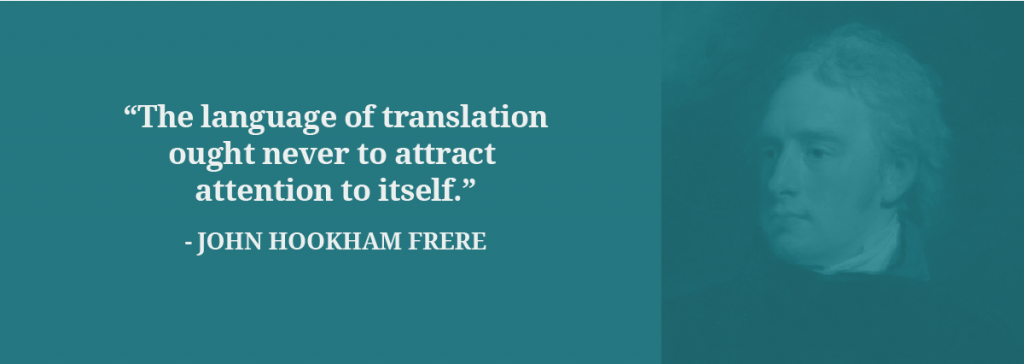 John Hookham Frere translation quote