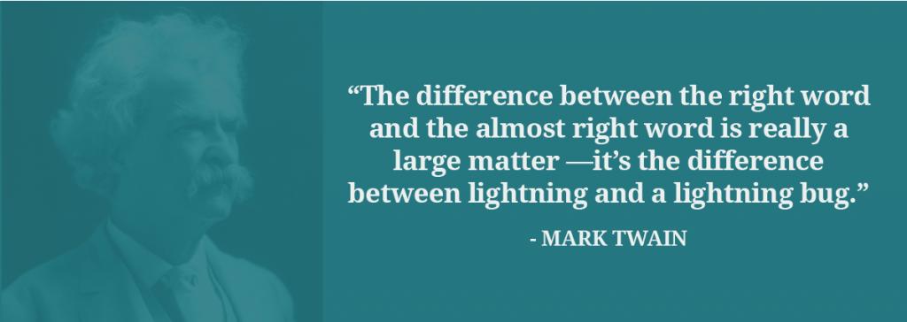 Mark Twain translation quote